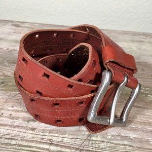 Levi's leather belt pierced XL 42 44 warm brown
